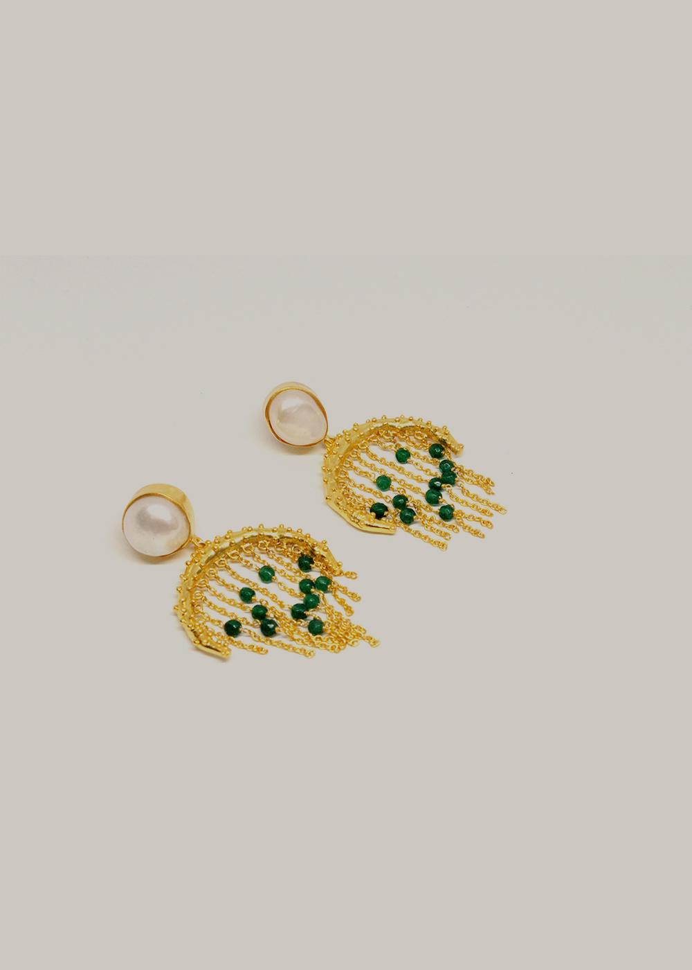 earrings green onyx