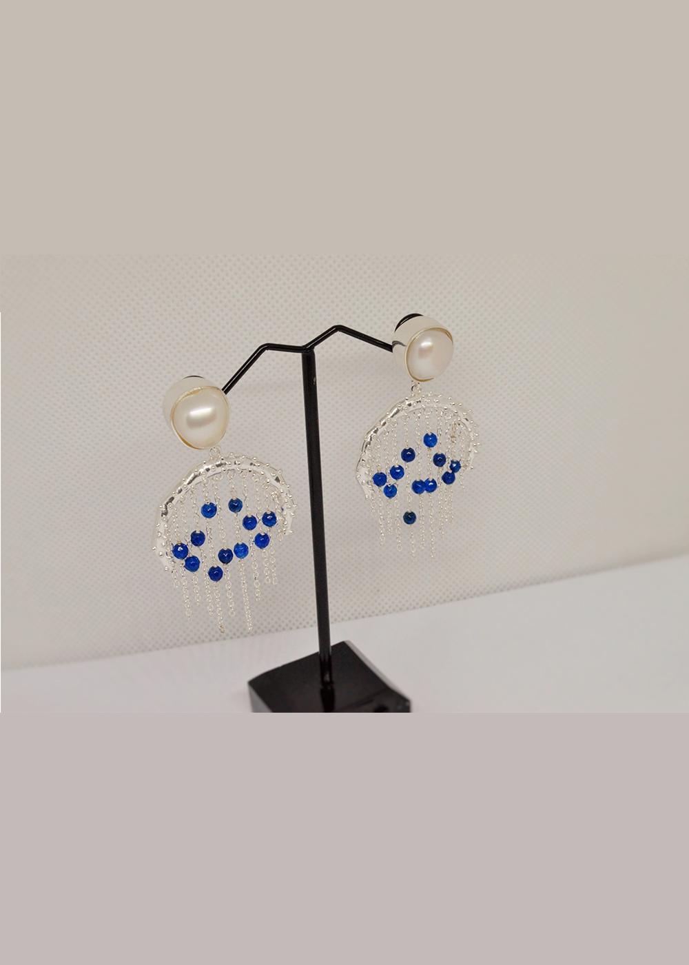 Bodhi Earrings Blue Aventurine